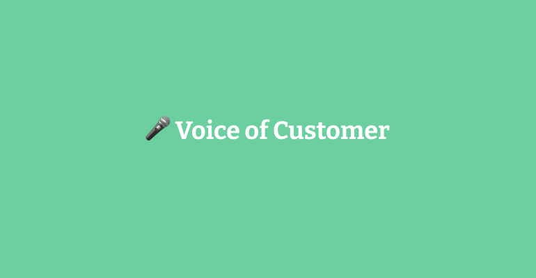 """Featured image for """"Voice of Customer"""""""